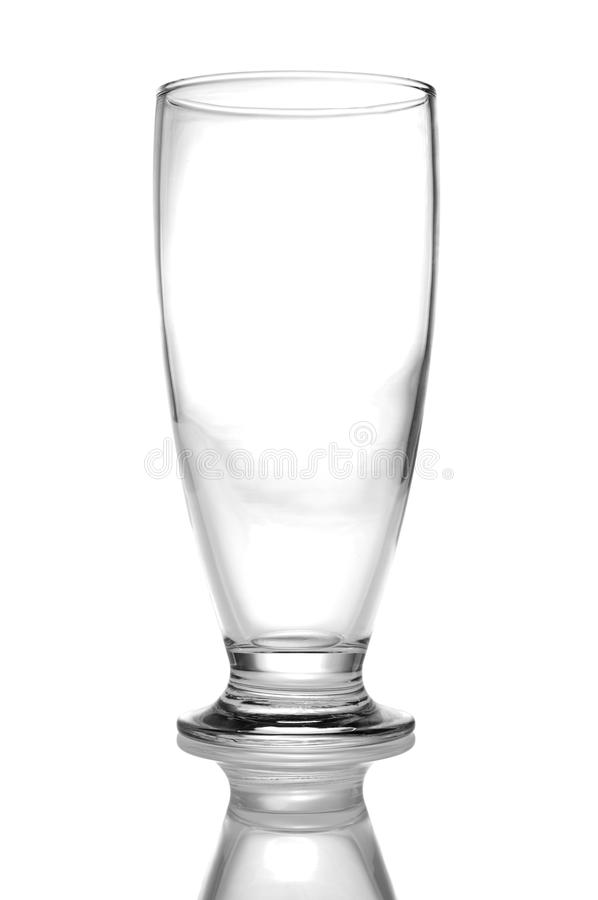 Vetro vuoto della birra immagini stock libere da diritti