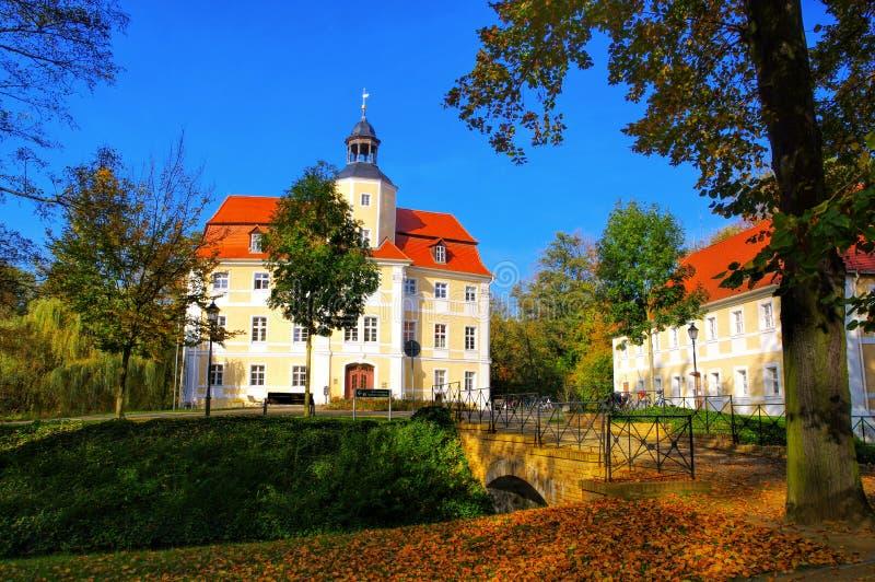 Vetschau castle in Brandenburg stock images