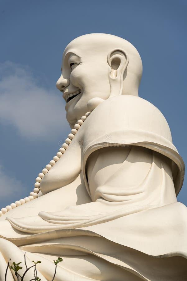 Vette Buddah de Tempel van Vinh Trang royalty-vrije stock fotografie