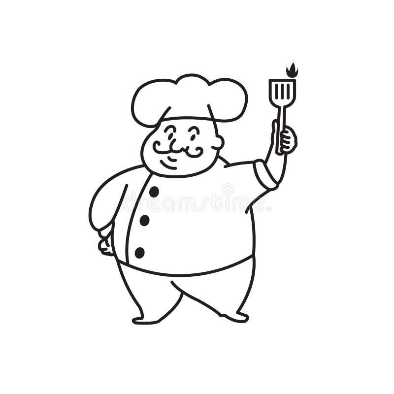 Vette Chef-kok royalty-vrije stock afbeeldingen