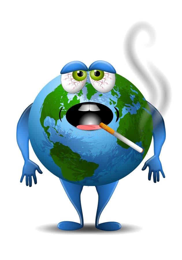 Vette Ongezonde Te zware Aarde vector illustratie
