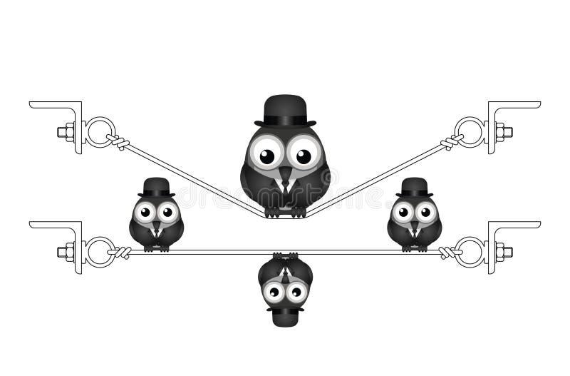 Vette te zware vogel royalty-vrije illustratie