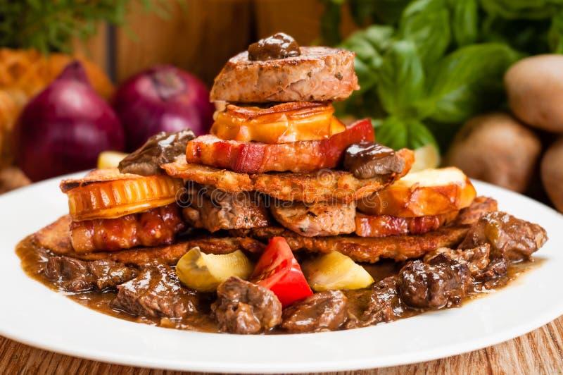 Vettig ongezond voedsel royalty-vrije stock fotografie