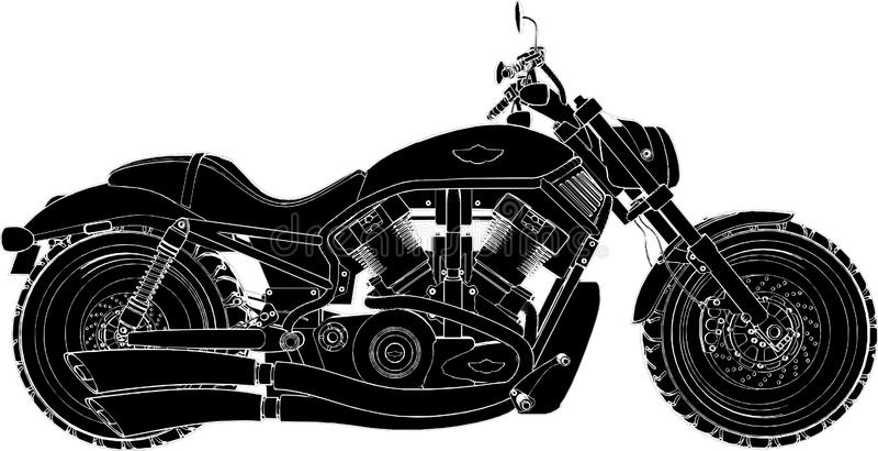 Vettore 01 del motociclo illustrazione di stock