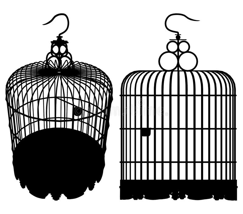 Vettore 01 della gabbia di uccello illustrazione vettoriale