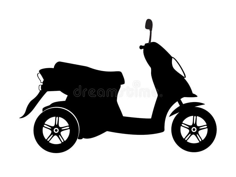 Vettore 3 del motociclo illustrazione di stock