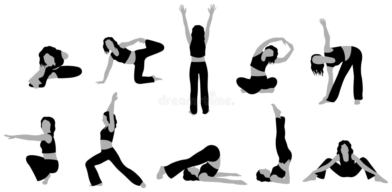 Vettore 3 della ragazza di yoga royalty illustrazione gratis