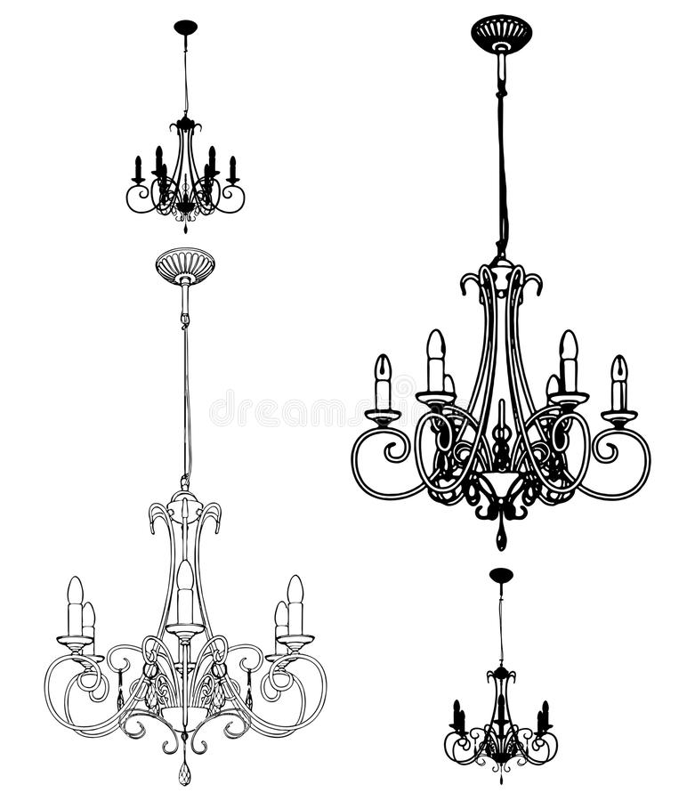Vettore 34 del lampadario a bracci di lustro royalty illustrazione gratis