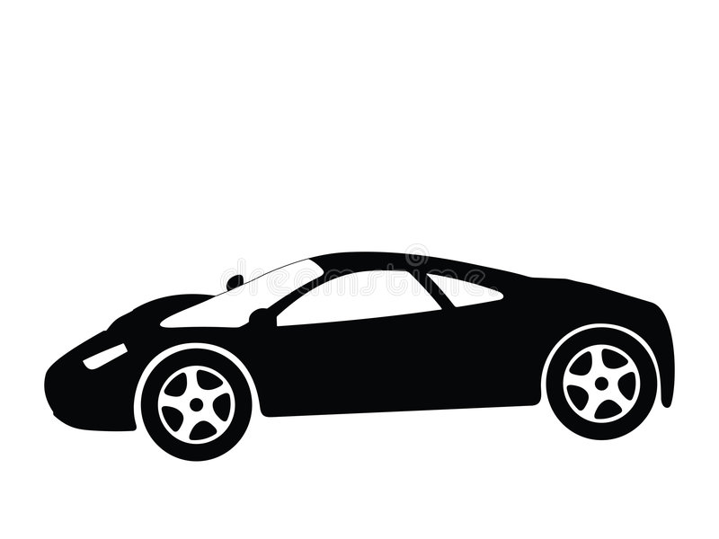 Vettore 8 dell'automobile sportiva illustrazione di stock