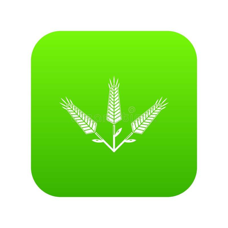 Vettore abbondante di verde dell'icona del grano royalty illustrazione gratis