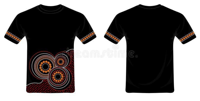 Vettore aborigeno di progettazione della maglietta di arte royalty illustrazione gratis