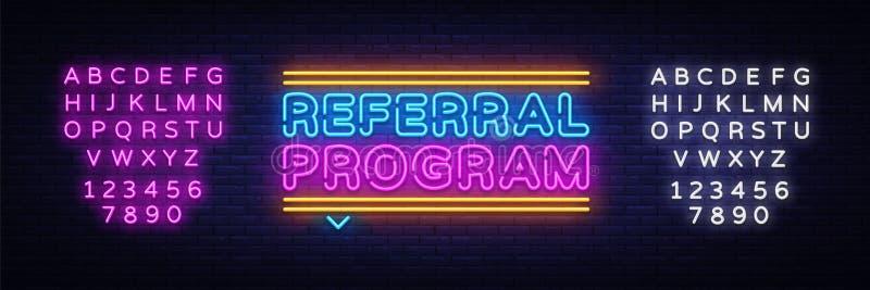 Vettore al neon del testo di programma di rinvio Insegna al neon, modello di progettazione, progettazione moderna di tendenza, in royalty illustrazione gratis