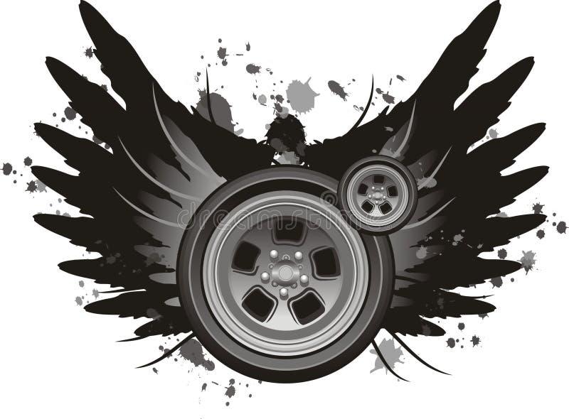 Vettore alato della rotella royalty illustrazione gratis