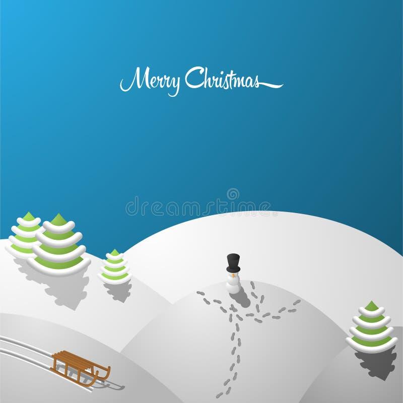 Vettore allegro della cartolina di Natale royalty illustrazione gratis