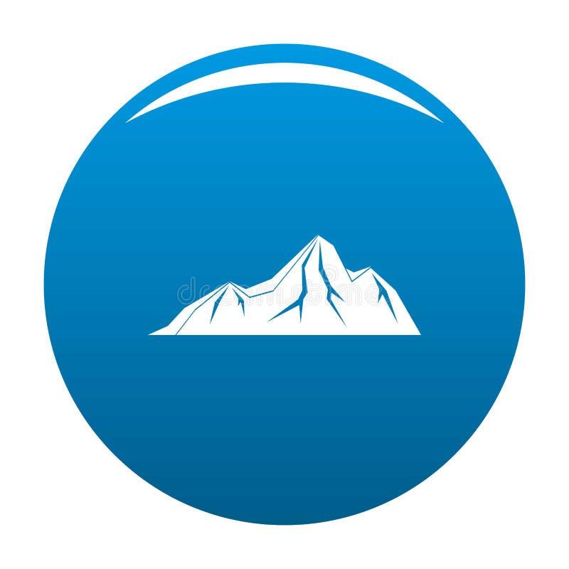 Vettore alto del blu dell'icona della montagna illustrazione vettoriale