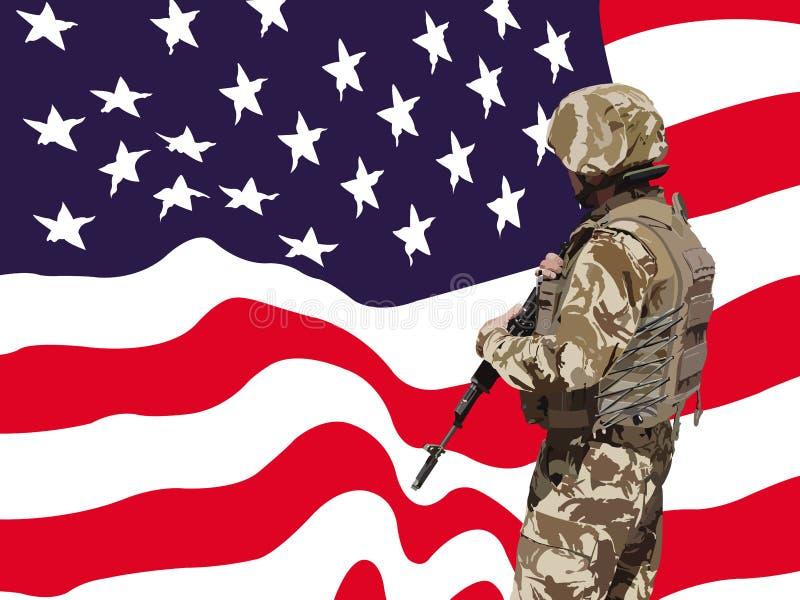 Vettore americano fiero del soldato
