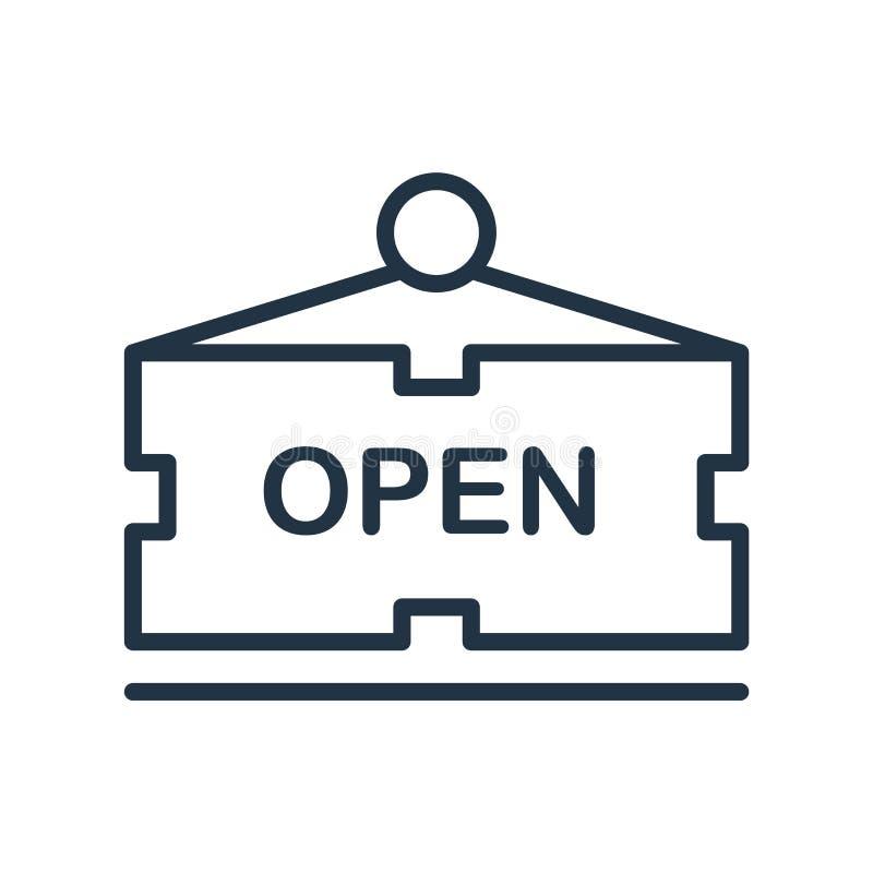 Vettore aperto dell'icona isolato su fondo bianco, segno aperto royalty illustrazione gratis