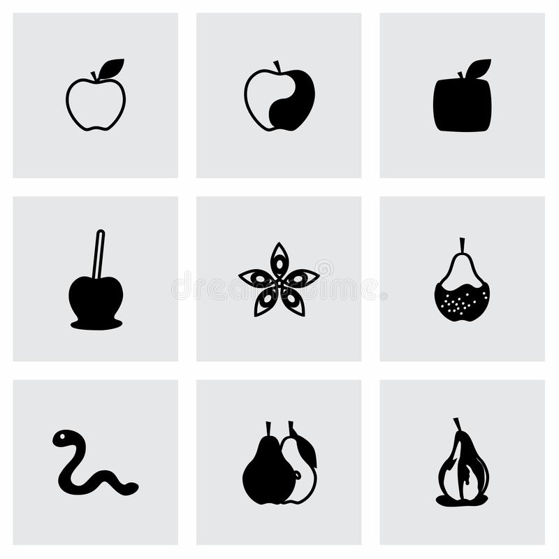 Vettore Apple ed insieme dell'icona della pera royalty illustrazione gratis