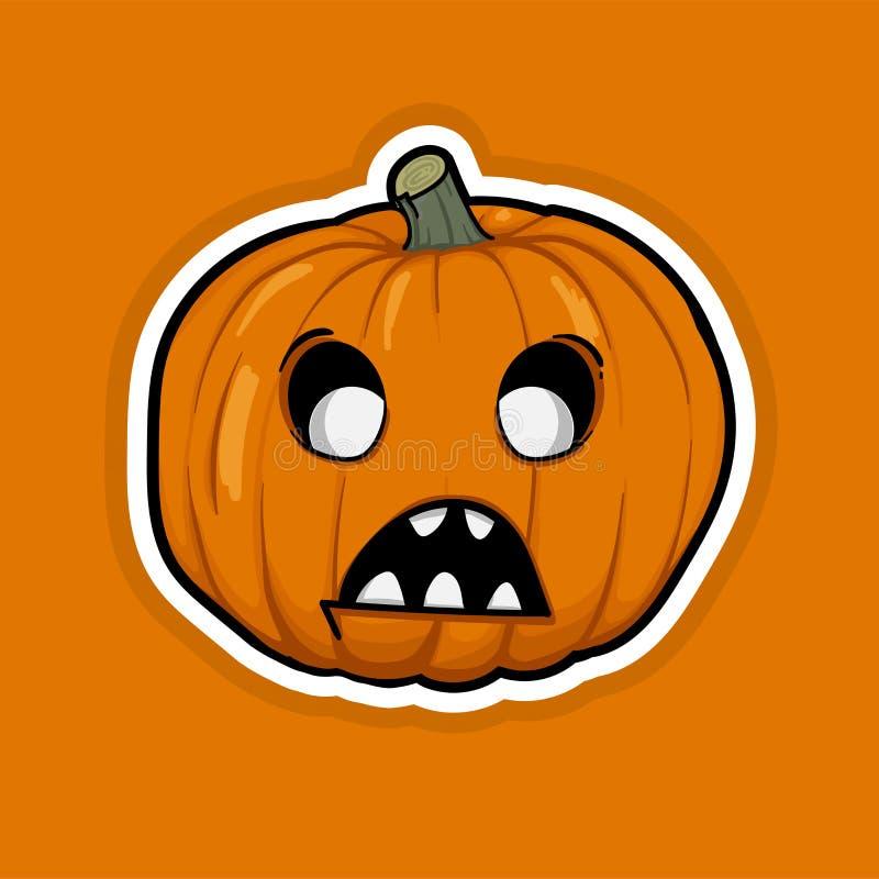 Vettore arancio del fumetto della zucca di Halloween fotografia stock libera da diritti