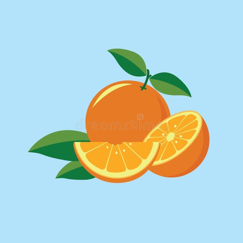 Vettore arancio della frutta immagine stock libera da diritti