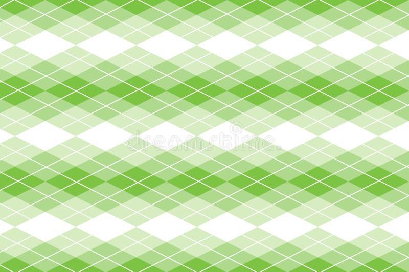Vettore Argyle verde illustrazione vettoriale