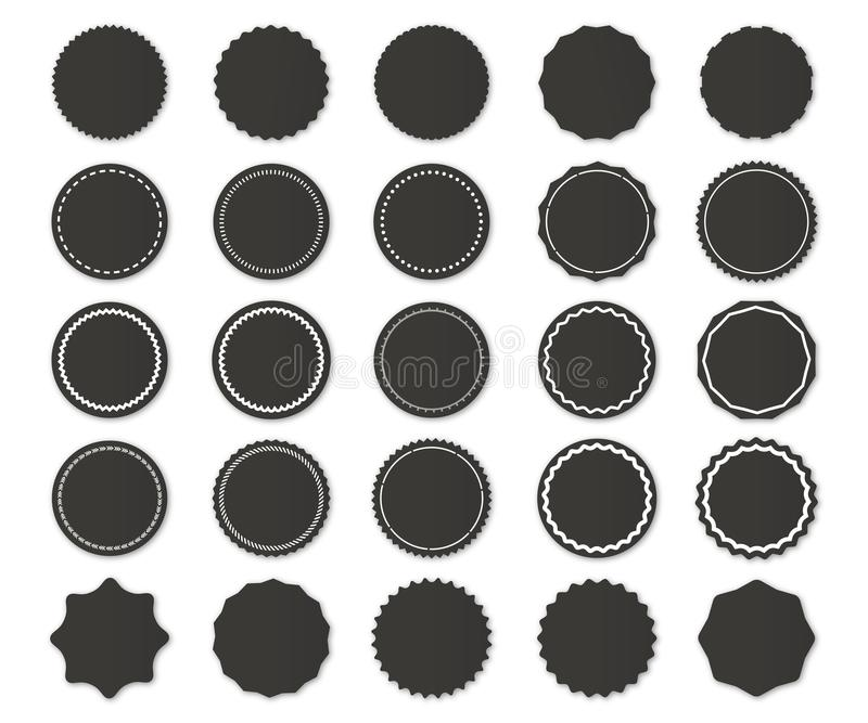 Vettore arrotondato delle azione del modello dei distintivi e dell'etichetta fotografia stock libera da diritti