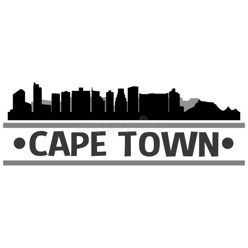 Vettore Art Design dell'icona della città dell'orizzonte di Cape Town illustrazione vettoriale