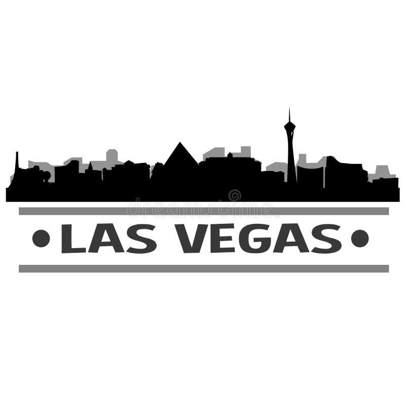 Vettore Art Design dell'icona della città dell'orizzonte di Las Vegas illustrazione vettoriale