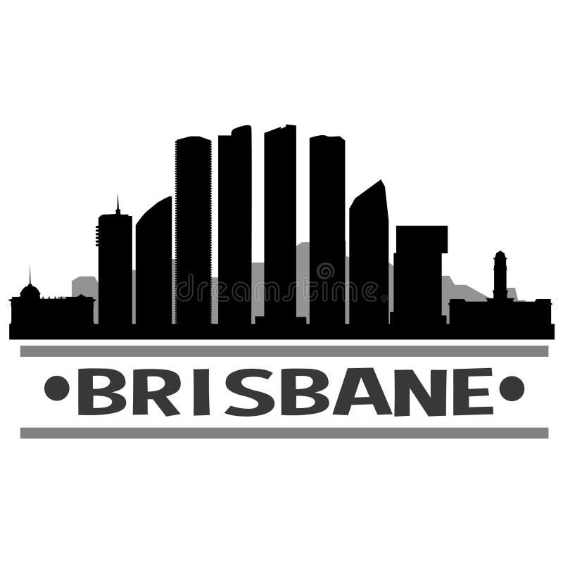 Vettore Art Design Skyline dell'icona della città di Brisbane illustrazione vettoriale