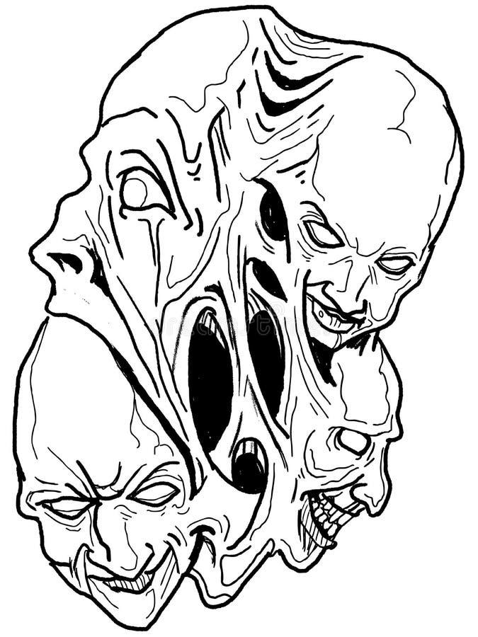 Vettore art. scuro. illustrazione di stock