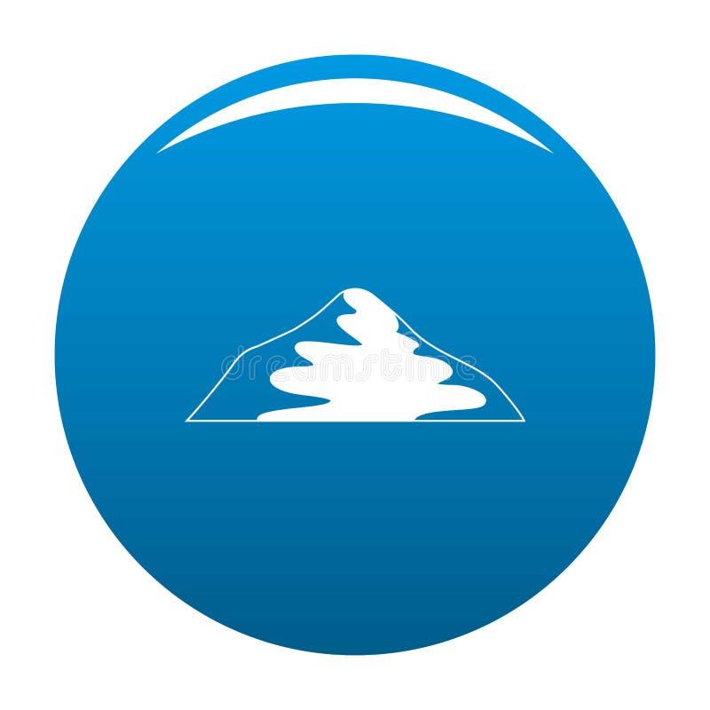 Vettore asiatico del blu dell'icona della montagna illustrazione vettoriale