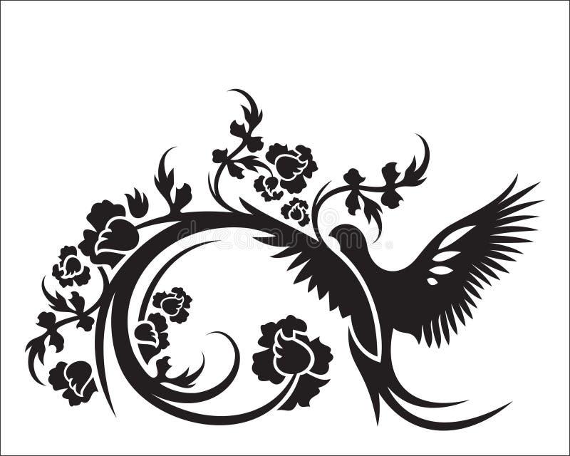 Vettore astratto dell'ornamento floreale per l'altra progettazione illustrazione di stock