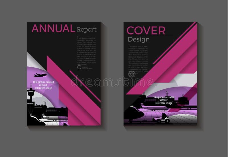 Vettore astratto della disposizione del modello di copertura dell'opuscolo della copertina di libro di progettazione moderna dell illustrazione di stock