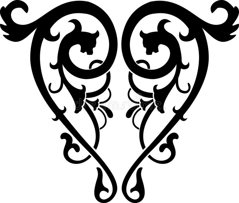 Download Vettore Astratto Di Calligrafia Illustrazione Vettoriale - Illustrazione di ornamento, isolato: 3878450