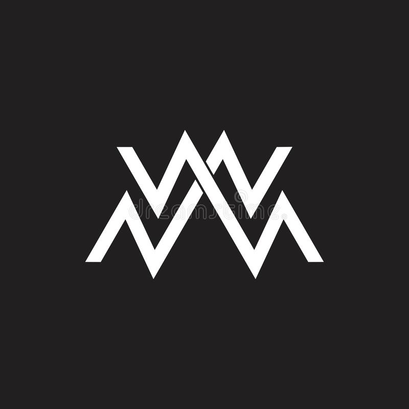 Vettore astratto di logo della montagna di verde della lettera m. illustrazione di stock