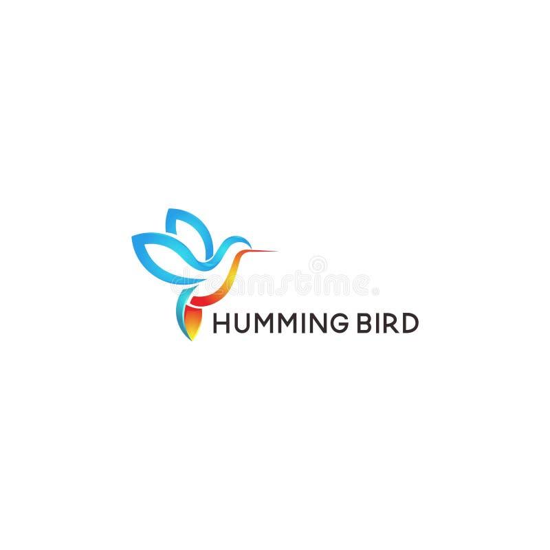 Vettore astratto di progettazione di logo dell'uccello illustrazione vettoriale