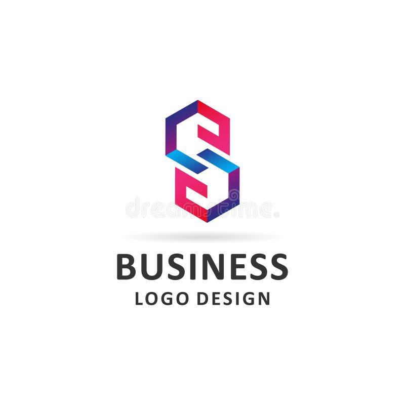 Vettore astratto di progettazione di logo della lettera di S royalty illustrazione gratis