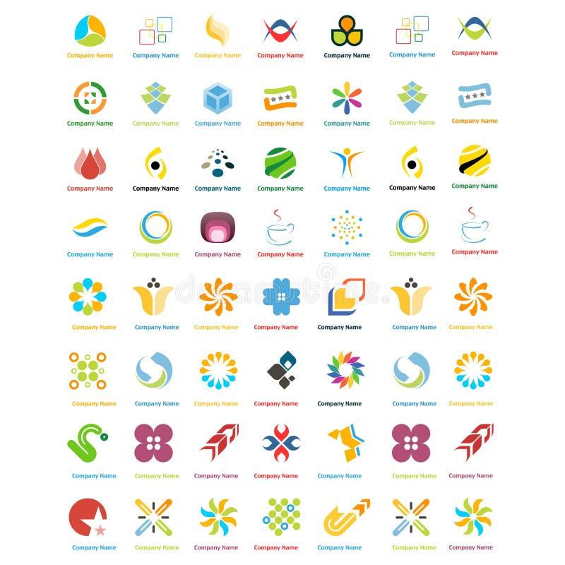 Vettore astratto di progettazione di logo delle icone di affari isolato su fondo bianco illustrazione di stock