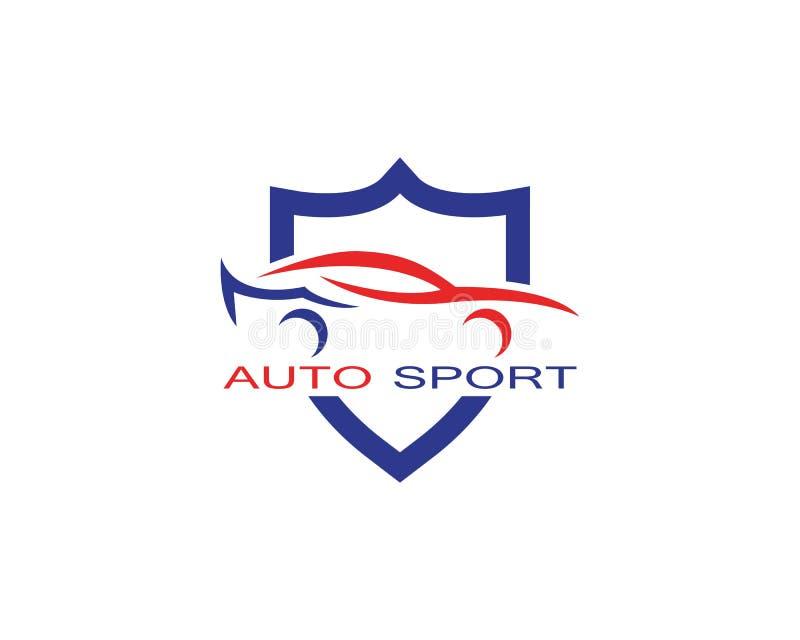 Vettore automatico di progettazione di logo dell'automobile illustrazione vettoriale