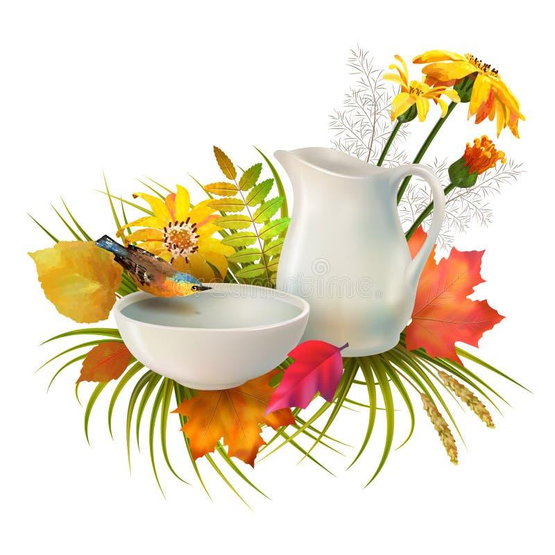 Vettore Autumn Composition illustrazione di stock