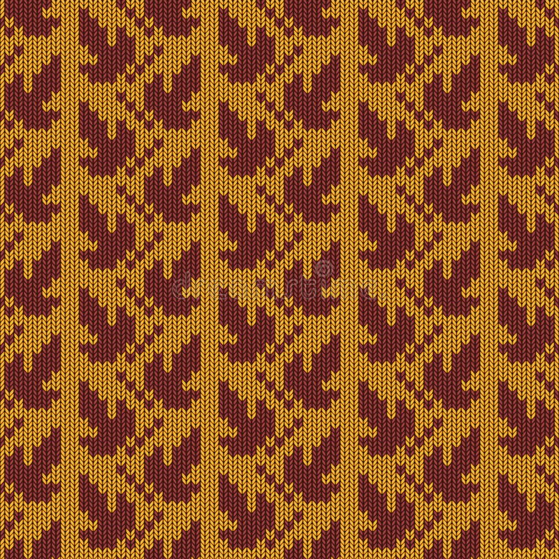 Vettore Autumn Knitted Pattern 1 royalty illustrazione gratis