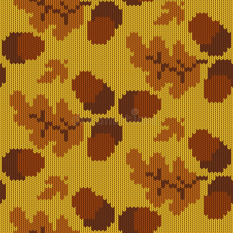 Vettore Autumn Knitted Pattern 3 royalty illustrazione gratis