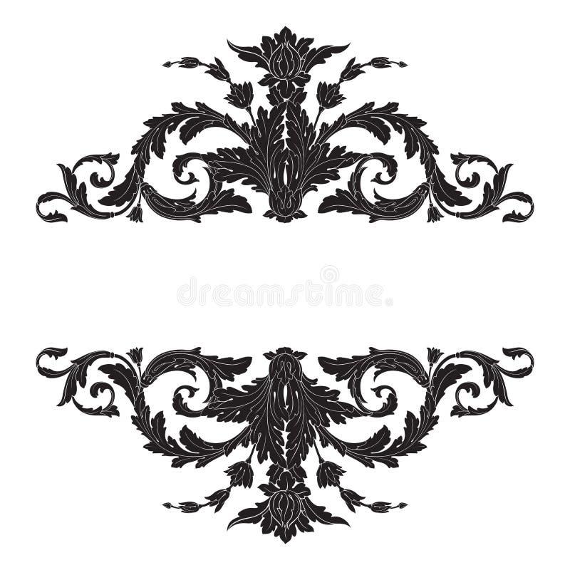 Vettore barrocco d'annata dell'ornamento illustrazione vettoriale