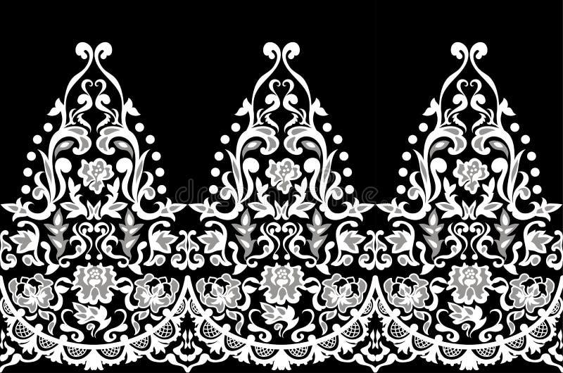 Vettore barrocco senza cuciture elegante del modello del pizzo Vettore barrocco senza cuciture elegante del modello del designLac illustrazione vettoriale