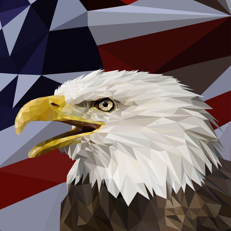 Vettore in basso poli con Eagle Head fotografia stock
