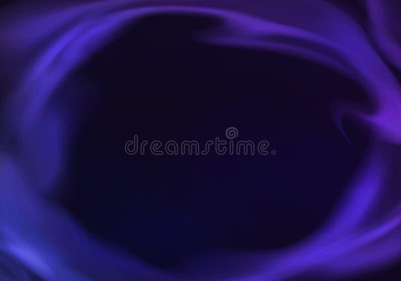 Vettore BG mistica scura con fumo porpora al neon illustrazione di stock