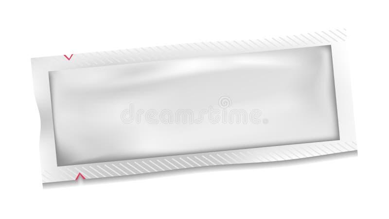 Vettore in bianco bianco della borsa della bustina della plastica di polietilene illustrazione di stock