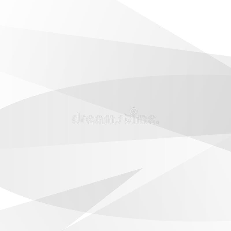 Vettore bianco e grigio astratto del fondo di tecnologia, di progettazione moderna del fondo illustrazione di stock