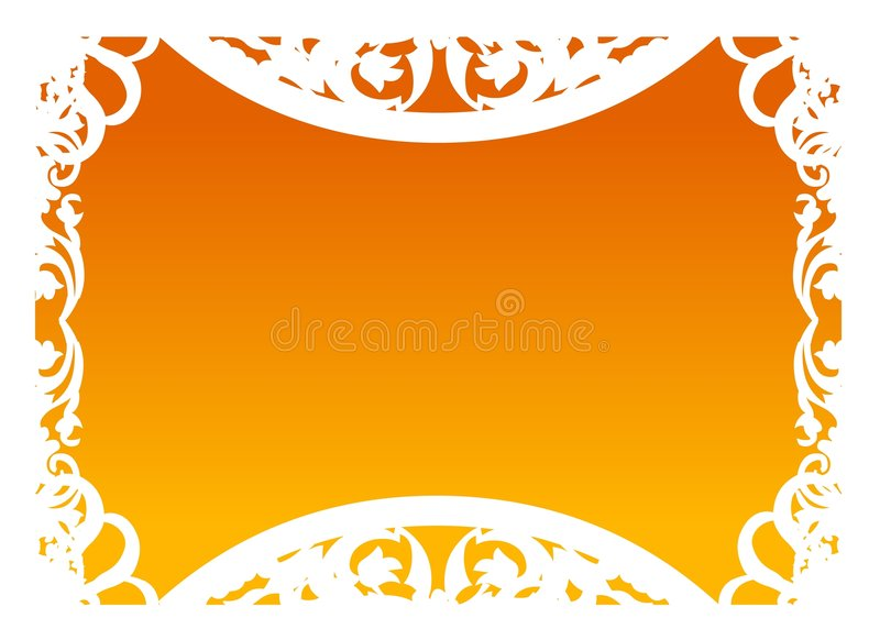 Vettore - blocco per grafici in arancio fotografia stock