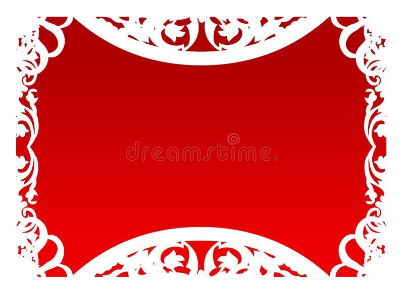 Vettore - blocco per grafici nel colore rosso fotografie stock